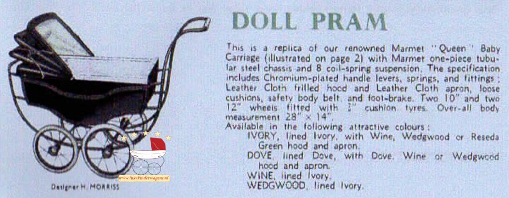 Doll pram, 1950