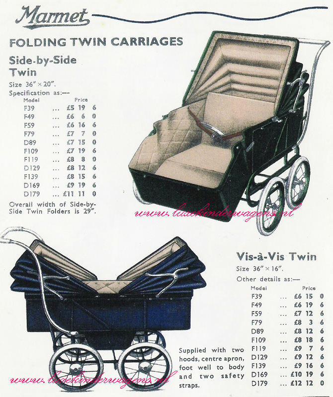 Folding Twin Carriages, 1939