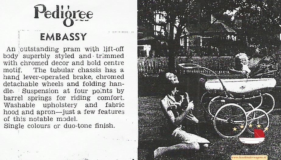 Pedigree Embassy mid 60s